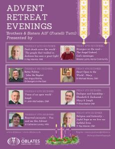 Advent Retreat Evenings Speakers