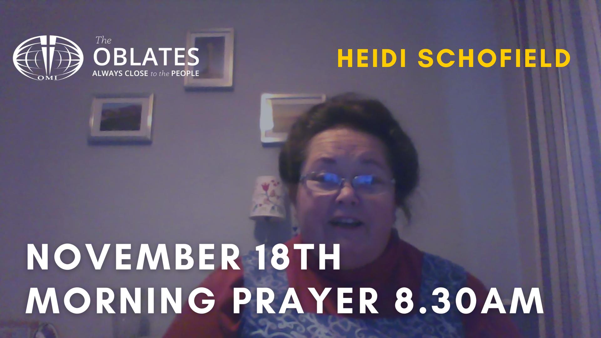 morning prayer november 18th
