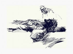 Praying the Way of the Cross 2021 : Jesus is nailed to the cross by Luc Labante