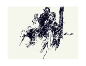 Jesus is taken down from the cross by Luc Labante