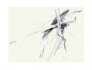 Jesus is given his cross by  Luc Labante
