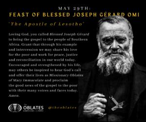 blessed joseph gerard may 29th